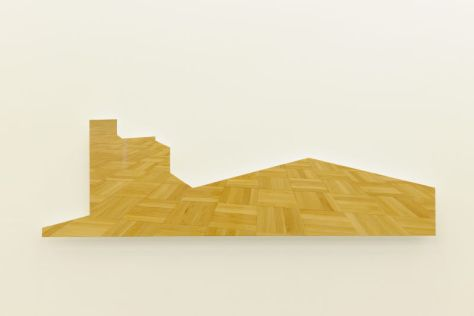 Walid Raad. Scratching on things I could disavow. Section 88: Views from outer to inner compartments_Act VI. 1-5, 2011. bois, métal, peinture. 93 x 264 x 14 cm. Courtesy de l'artiste et Galerie Sfeir-Semler, Beyrouth / Hambourg © Walid Raad