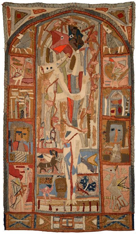 Roger Bissière, Le chevrier, 1945-1946, tapisserie, collection François de la Baume © Jean-Louis Losi, Paris © ADAGP Paris 2014