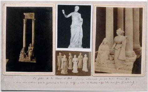 Les filles de la Vénus d'Arles, montage vers 1900  (inv. 2003.0.4601) ©Coll. Museon Arlaten, cliché Chaluleau, 2011
