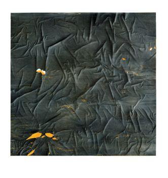 Patrice Pantin, Dessin martial, 2014, encre sur papier incisé, 96 x 96 cm