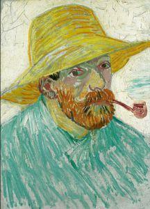 Vincent van Gogh, Autoportrait à la pipe et au chapeau de paille, 1887 Huile sur toile, 41,9 x 30,1 cm Van Gogh Museum, Amsterdam (Vincent van Gogh Foundation)