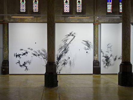 Abdelkader Benchamma, Flux, structures, contraintes et décors (détail), 2014