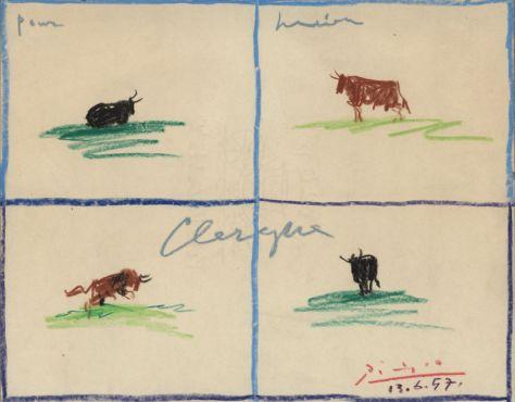 Picasso_4 toros pour LC_1957_collecLC_1