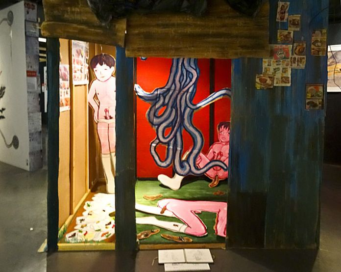 Imiri Sakabashira, installation - Heta-Uma, MIAM, Sète, 2014