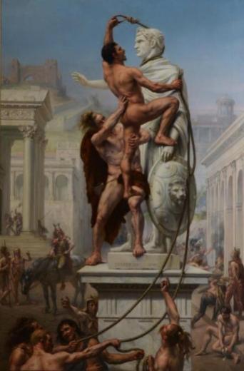 Joseph-Noël Sylvestre, Le Sac de Rome par les Barbares, 1890 (huile sur toile, 197 x 130 cm, inv