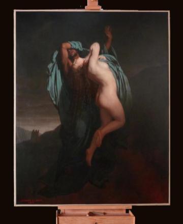 Jules Jean Antoine Lecomte du Nouÿ, Paolo et Francesca, 1863 (huile sur toile, 185 x 148 cm, inv