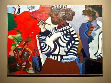 Pierre François, Le peintre et son modèle 1967-1969 - Musée Paul Valéry