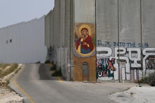 Notre Dame qui fait tomber les murs, Manoël Pénicaud, Bethléem, 2014