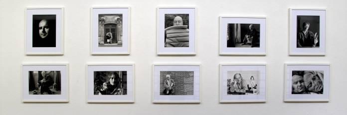 François Lagarde « Artistes et Philosophes », à la Galerie AL/MA. Photographie François Lagarde