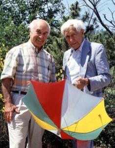 François Lagarde, Albert Hofmann et Ernst Junger, 1990