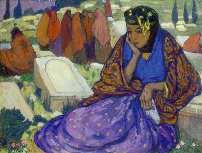 Juives au cimetière, André Suréda, Algérie, 1912