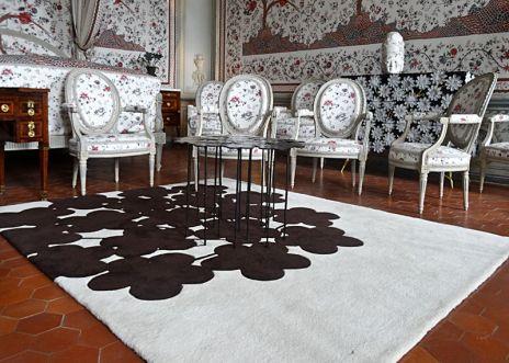 Pop Art Design - Tapis Ombre chinée avec table margueritte et commode anthémis