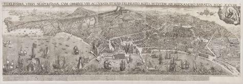 Alessandro Baratta, Vue de Naples, 1629