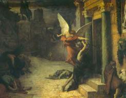 Jules-Elie Delaunay Peste à Rome, 1869