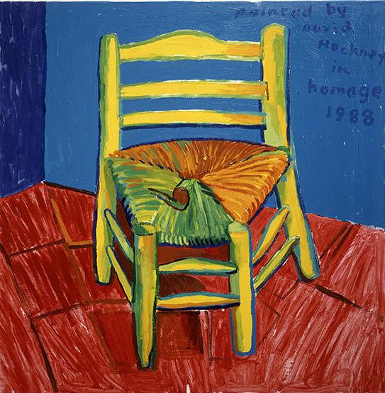 David Hockney, La Chaise et la pipe de Vincent, 1988