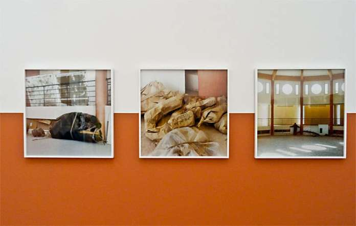 Yto Barrada, Futur musée d'histoire naturel d'Azilal, 2013- 2015, tirages c-print « Faux guide », Carré d'Art - 2015-2016