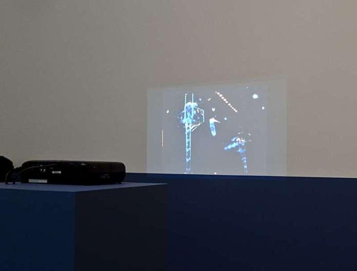 Yto Barrada, Le Funambule », film super-8mm transféré sur numérique, 2015. « Faux guide », Carré d'Art - 2015-2016