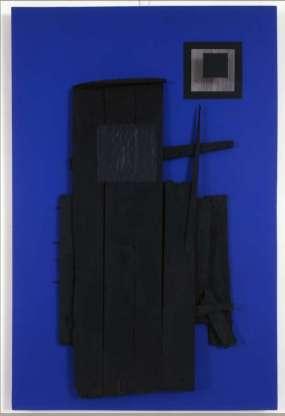 Jesús Rafael Soto, Leño azul y negro, 1960 © photo Beatrice Hatala archives Soto © Adagp, Paris 2015
