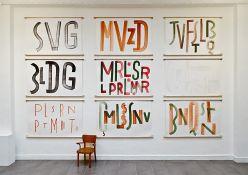 Pierre Di Sciullo, Consonnes, aquarelles sur papier, 2013-2015