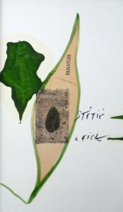 Joël Leick, Herbier d'octobre, 2015. Texte de Salah Stétié, peintures de Joël Leick. Editions Collection Mémoires, Book Leick, 2015