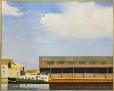 Philippe Pradalié, Quai Paul Riquet, 1994. Huile sur toile, 130 x 162 cm. Musée Paul Valéry, Sète. © Gabrielle Voinot