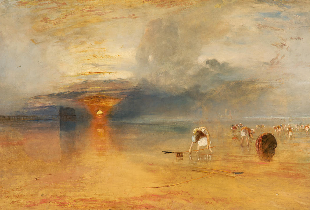 TURNER William (1775 - 1851) Plage de Calais à marée basse, « poissards » ramassant des appâts, exposé à la Royal Academy, 1830 - Huile sur toile - 68,8 x 103,8 cm - Bury Art Museum, Greater Manchester © Bury Art Museum, Greater Manchester UK
