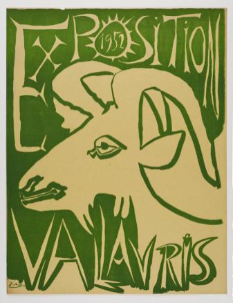 Pablo Picasso, Exposition Vallauris 1952, 1952 Linogravure en couleur 65 x 50 cm Frederick Mulder Ltd / Frederick Mulder Ltd © Succession Picasso 2016