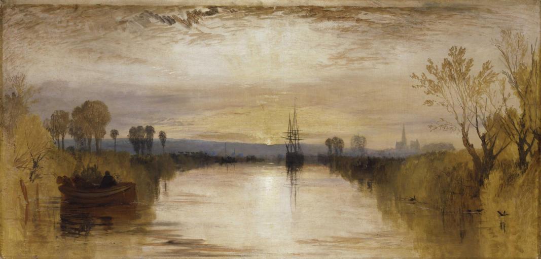 TURNER William (1775 - 1851) Le Canal de Chichester, vers 1827-1828 - Huile sur toile - 654 x 1346 mm - Tate. Accepté par la nation dans le cadre du legs Turner, 1856 © Tate, London 2015
