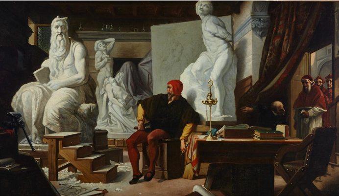 Alexandre Cabanel, Michel-Ange dans son atelier, 1856