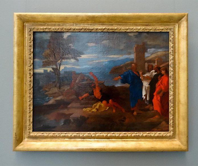 Sébastien Bourdon, Esquisse de La Guérison du démoniaque (vers 1653) - Musée Fabre Nouvelles Acquisitions