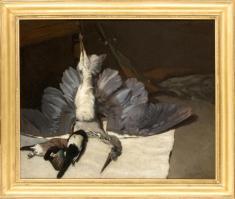 Alfred Sisley, Nature morte au héron et aux geais, 1867. Huile sur toile. 80 x 100 cm. Montpellier, musée Fabre (dépôt du musée d'Orsay). Photo (C) RMN-Grand Palais (musée d'Orsay) / Daniel Arnaudet/Service presse/musée Fabre.