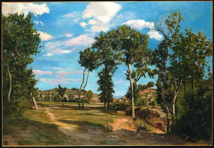 Frédéric Bazille, Paysage au bord du Lez, 1870. Huile sur toile. 137,2 x 200,7 cm. Minneapolis, The Minneapolis Institute of Art, The Special Arts Reserve Fund (69.23). © Photo Minneapolis Institute of Art