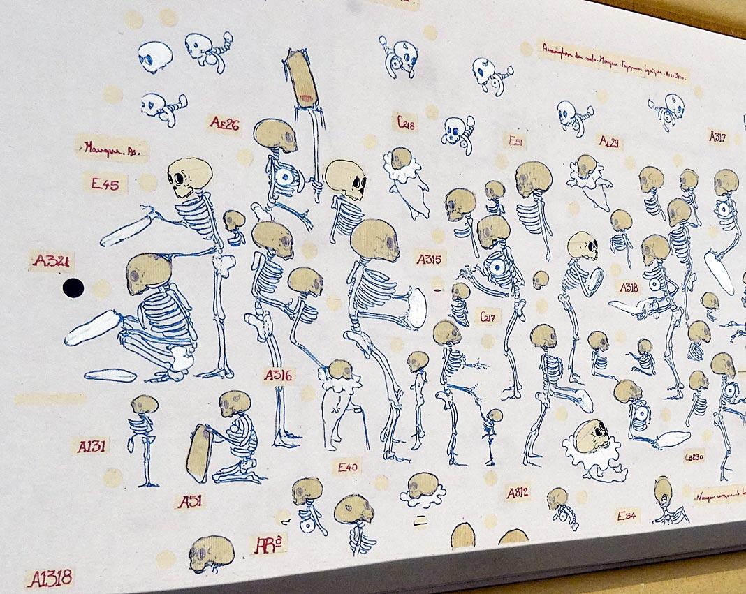 Philippe Favier, Le Grand Livre, 2009 Détail - Vanités à la Maison des Consuls – Les Matelles, Grand Pic Saint-Loup