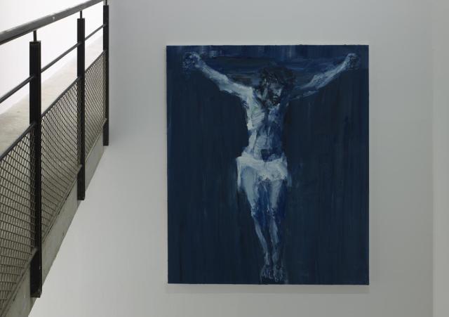 Exposition Ruines du temps réel - Yan Pei-Ming, Crucifixion, 2016, huile sur toile, 180 x 150 cm - Photographe Marc Domage © Yan Pei-Ming