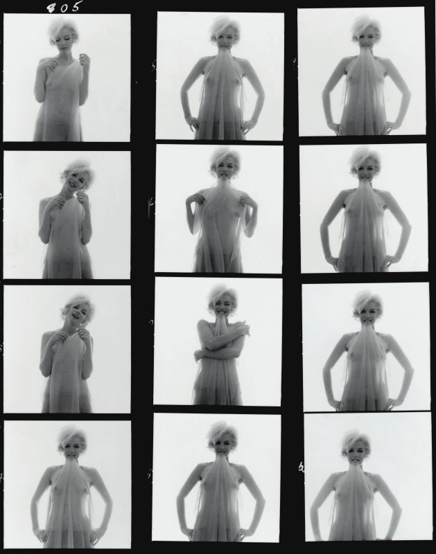 Bert Stern Marilyn Monroe: From the Last Sitting, 1962 (Contact Sheet) © Estate of Bert Stern / Staley-Wise Gallery / Galerie Dina Vierny