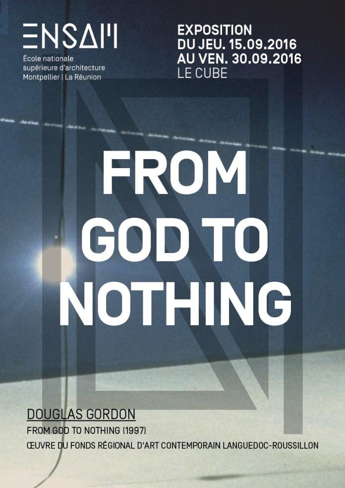 Douglas Gordon «From God to Nothing» à l'École d'Architecture de Montpellier