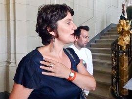 Christine Germain Donnat et Xavier Landrit dans le vestibule du Château Borély
