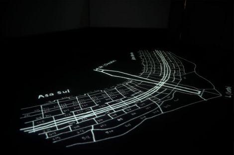 Cléo Lhéritier, Passagers installation vidéo HD quadruple projection couleur son 7 min 2015