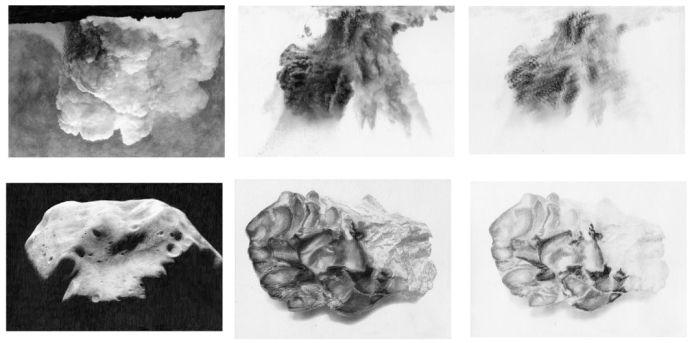 Daphné le sergent, Fuck the cloud (Ensemencer les nuages), 2015, photographie et dessin, céramique, 80 x 460 cm - courtesy galerie Metropolis