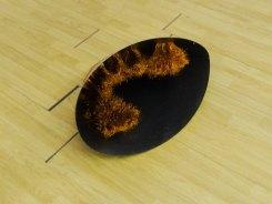 Vanessa Notley, I wont, 2015, acier et fil de cuivre, 80 x 43 x 53 cm