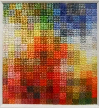 Nathalie Bujold, Pixels et petits points, 2004. Ménage/Montage, Vidéochroniques