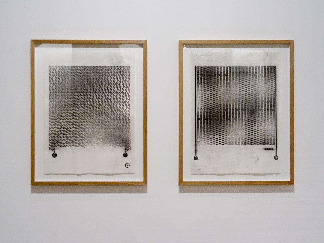 Joyce Hinterding, Dirty Drawings : Waves from Induction Drawings,2012. Résonances magnétiques à La Panacée, Montpellier
