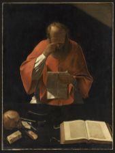 Georges de La Tour, Saint-Jérôme lisant, XVIIe siècle, huile sur toile, Musée du Louvre, Paris. © RMN-Grand Palais (musée du Louvre) / Jean-Gilles Berizzi