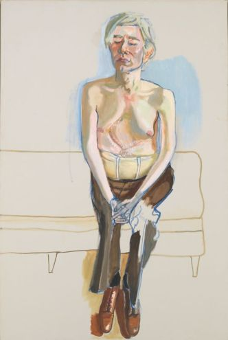 Alice Neel, Andy Warhol 1970 Huile et acrylique sur toile de lin, 152,4 x 101,6 cm Whitney Museum of American Art, New York Crédit photo : Whitney Museum of American Art, New York