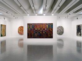 François Rouan, Tressages 1966-2016 au musée Fabre - Vue de l'exposition 01