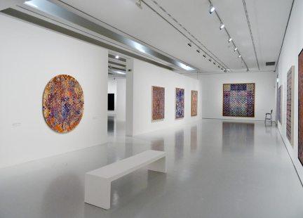 François Rouan, Tressages 1966-2016 au musée Fabre - Vue de l'exposition 08