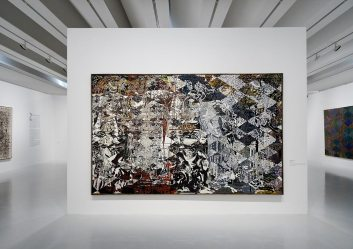 François Rouan, Tressages 1966-2016 au musée Fabre - Vue de l'exposition 11