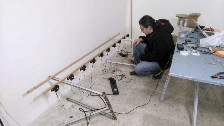 """Michel Amaral premiers tests - photo """"Résidence lignes de vie"""""""
