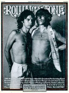 Rolling Stone n° 191, 17 juillet 1975. The Rolling Stones 1975 Tour - Photo Annie Leibovitz