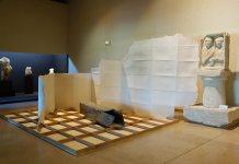 Arnaud Vasseux, Sans titre (Cassable et portoirs), 2017 - Du double au singulier au Site archéologique Lattara - musée Henri Prades